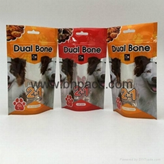 Factory supply high quality aluminum foil stand up ziplock bag for dried petfood