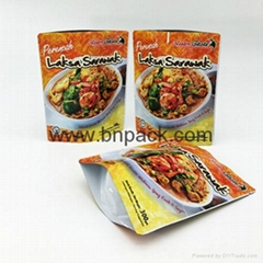 Resealable custom printed aluminum foil stand up zipper pouch for coconut chips