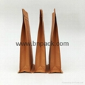 stand up flat bottom coffee packing pouches kraft paper bag 3