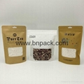 Food grade brown white kraft paper bag