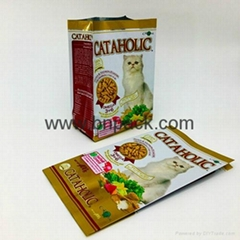 Matte printing high quality plastic aluminum foil stand up zip lock bag