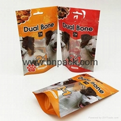 Factory supply high quality aluminum foil stand up ziplock bag for dried petfoog