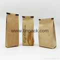 customize printed kraft paper coated aluminum foil with tin tie coffee packaging 2