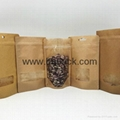 factory supply stand up kraft paper bag with customized window 2