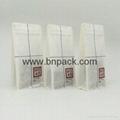 white kraft paper sachet lined poly