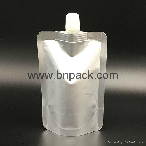 100ml 200ml plastic packaging straw bag  spout pouch 2