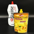 350ml baby food stand up spout pouch liquid juice drinking water in plastic bag 5