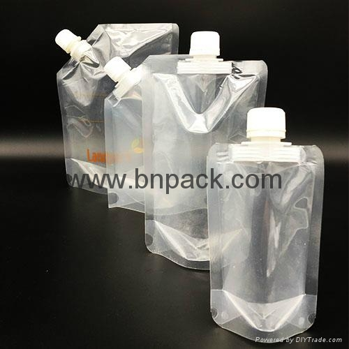 BPA free plastic reusable beverage refillable spout pouch bag 2