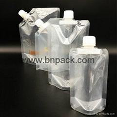 custom BPA free reusable plastic spout pouch