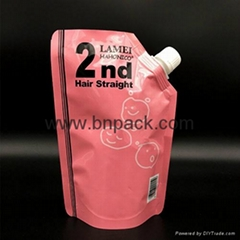 custom printed high barrier Reusable nozzle plastic pouch for packing cosmetics