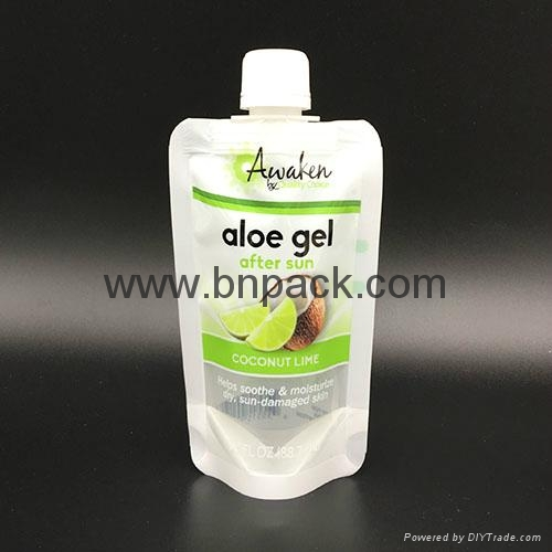 custom printed liquid fruit juice reusable pouch with anti-swallow straw 3