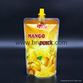 custom printed liquid fruit juice reusable pouch with anti-swallow straw 6