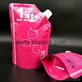 Custom printed stand up spout pouch reusable plastic liquid pouch 5