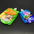 custom spout pouch 8oz 12oz 16oz packaging bag for liquid drink plastic bag 2