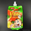 custom spout pouch 8oz 12oz 16oz packaging bag for liquid drink plastic bag 1