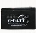 免維護有源音響鉛酸電池12V1