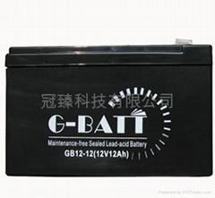 免维护有源音响铅酸电池12V12AH