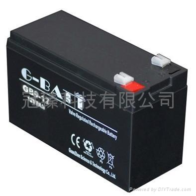12V9AH 安防有源音箱照明电动工具用电池 1