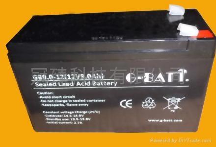 12V9AH 安防有源音箱照明電動工具用電池 2