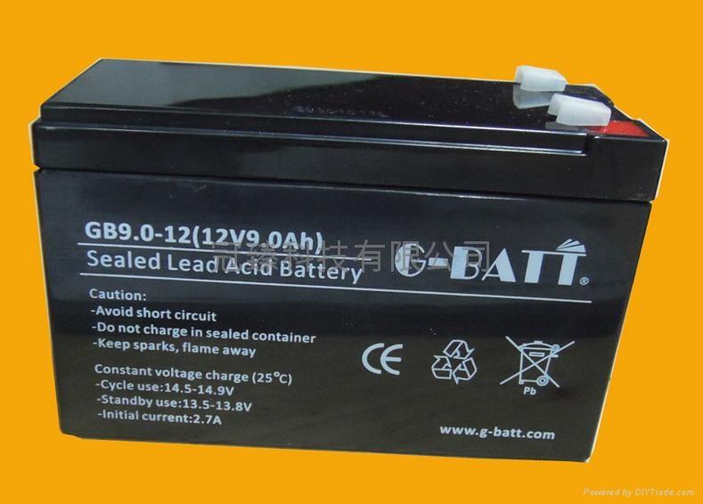 12V9AH 安防有源音箱照明電動工具用電池 3