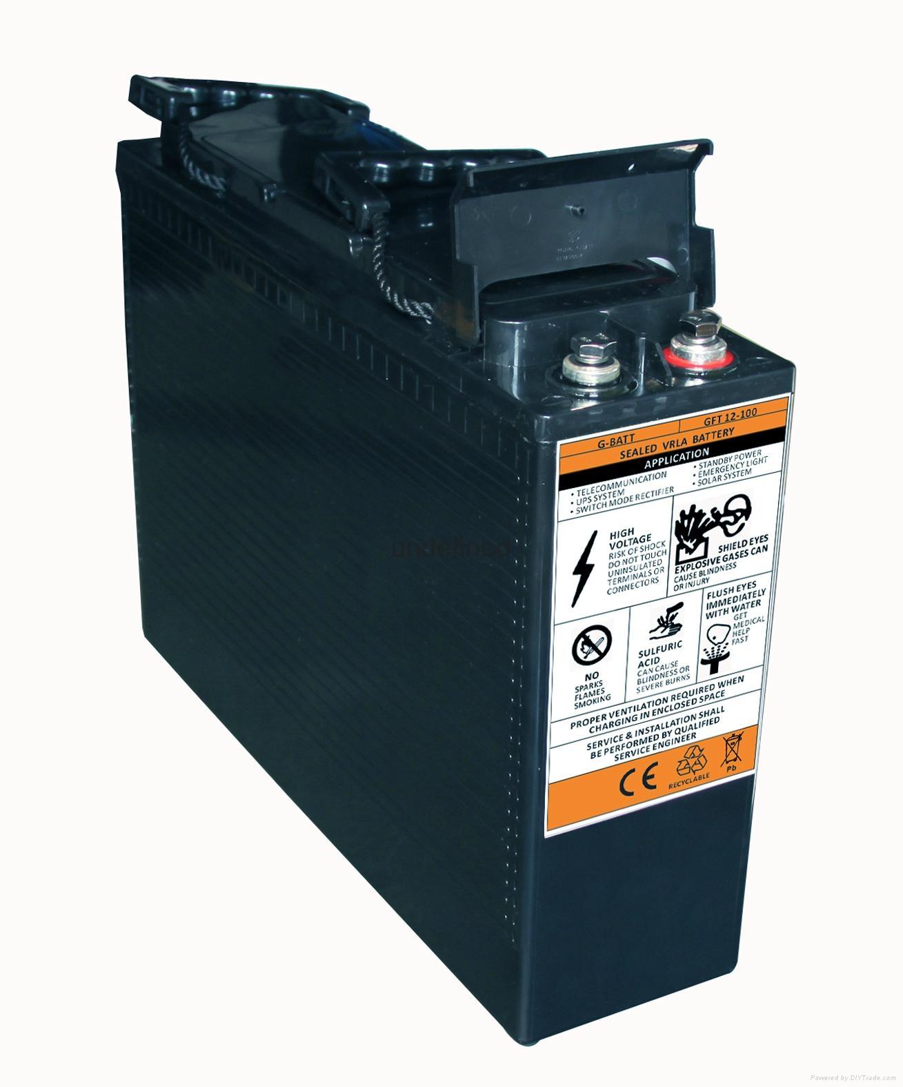 12V100AH 前置端子蓄電池 2