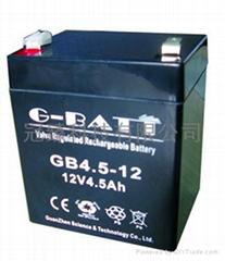 12V4.5AH有源音箱照明電源用鉛酸蓄電池