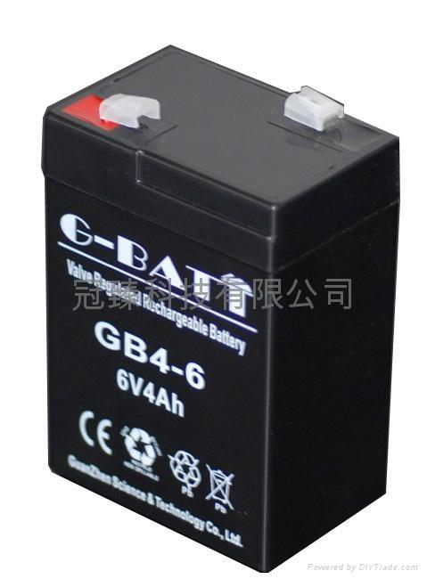6V4AH 應急燈玩具車電子稱用蓄電池 1