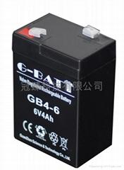 6V4AH 應急燈玩具車電子稱用蓄電池