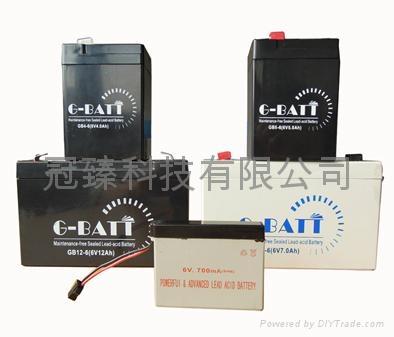 6V4AH 應急燈玩具車電子稱用蓄電池 4