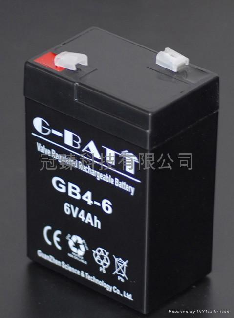 6V4AH 应急灯玩具车电子称用蓄电池 5