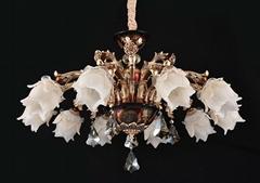 客廳宮廷燈鋅合金田園臥室餐廳法式吊燈具