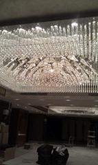 北京通州定製酒店工程大堂水晶燈