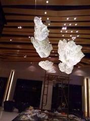 會所大廳水晶珠雲朵吊燈