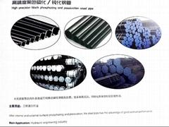 Black phosphating and passivation steel tube/ tubo de fosfatado negro