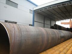 SSAW Spiral Welded Steel Pipe /Espiral soldado de tuberías de acero