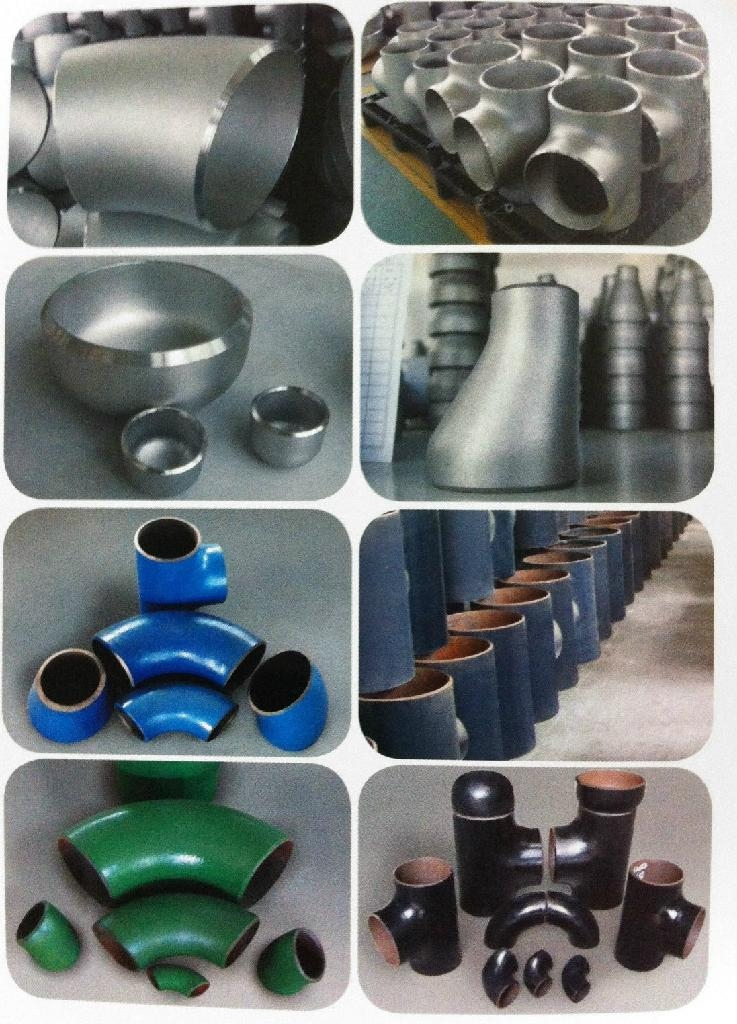 Stainless steel pipe fitting elbow tee reducer cap/ Acero inoxidable del tubo T  1