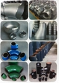 Stainless steel pipe fitting elbow tee reducer cap/ Acero inoxidable del tubo T