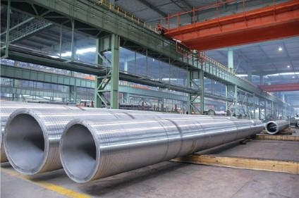 Big stainless steel seamless pipe/ Grandes tubos de acero inoxidable 3
