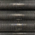 High frequency welded helical finned tube