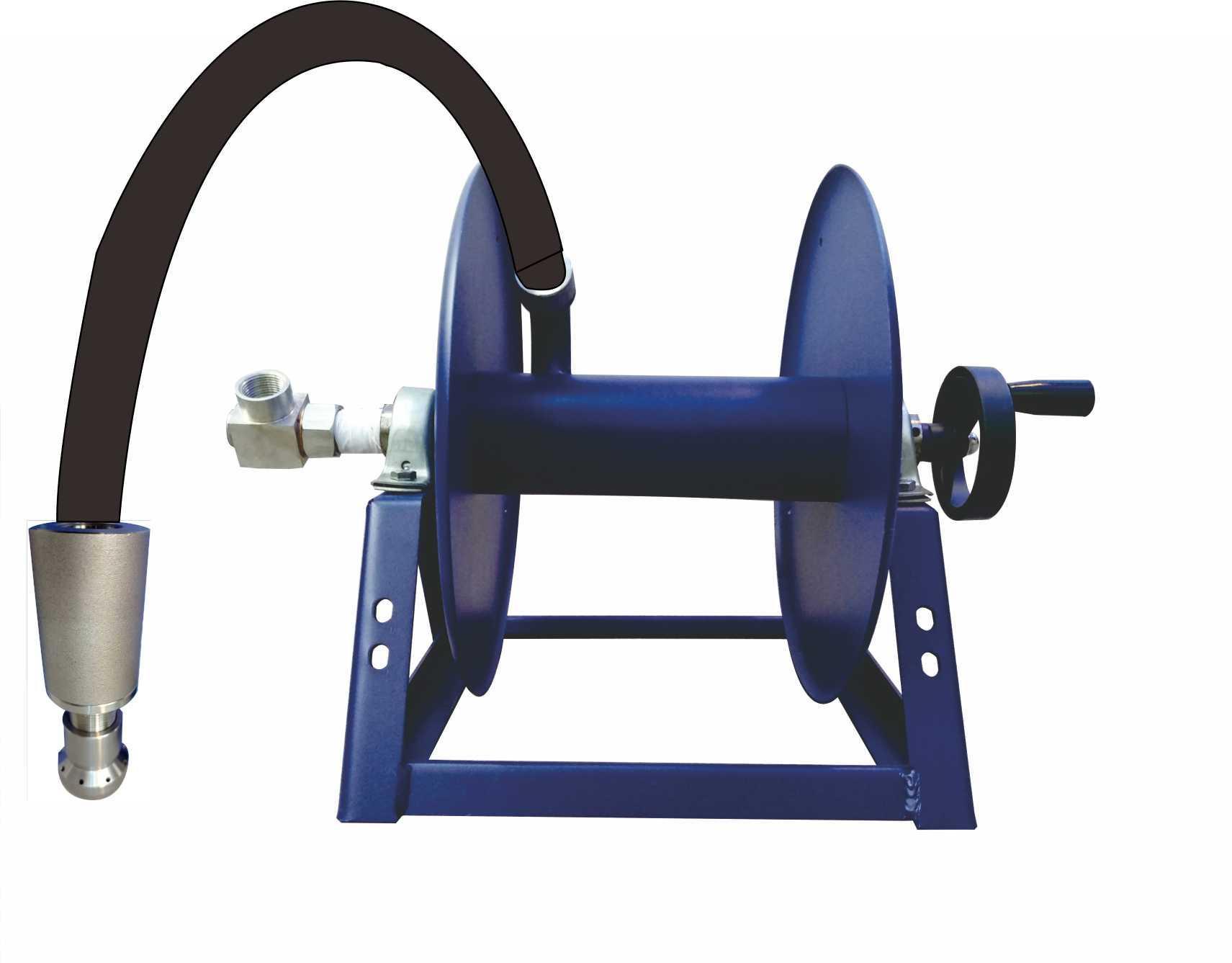 不锈钢车载高压清洗卷管器,带旋转喷头,车载管道疏通卷管器 1