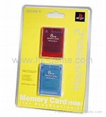 SONY PS2 DUAL CARDS 2 CARDS ps2 MEMORY CARD 8MB,16MB,64MB,wii,xbox360,NGC card