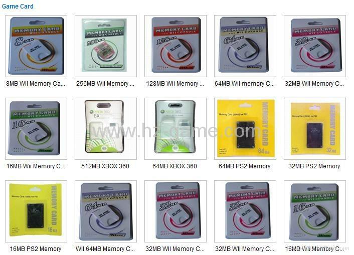 ps2雙色記憶卡/xbox360/wii /NGC遊戲內存卡 儲存卡 C10高速  手機TF卡批發 2