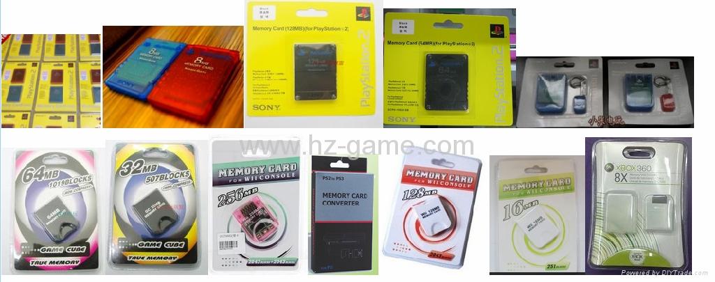 ps2雙色記憶卡/xbox360/wii /NGC遊戲內存卡 儲存卡 C10高速  手機TF卡批發 4