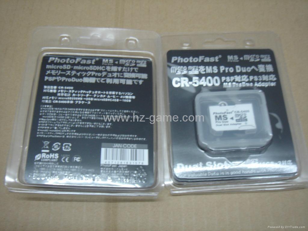 PSP专用双马甲,ez flash, TF转MS卡套 TF转记忆棒双卡套 最大可支持32G 9