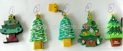 Christmas tree U flash drive usb promotional advertising USB,gift USB