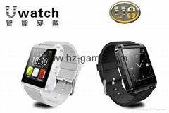 2014 new U watch U8 Bluetooth smart handsfree watch phone