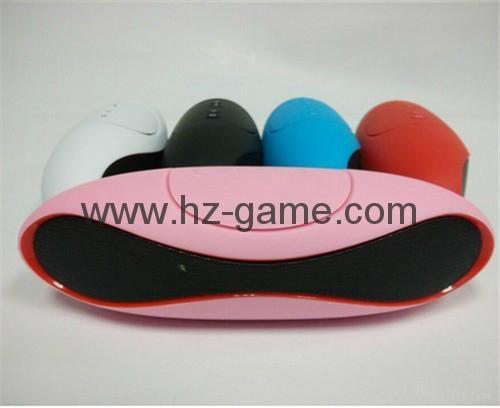 新款X6小橄榄球带灯LED蓝牙音箱发光玄幻音响无线迷你蓝牙低音炮 2