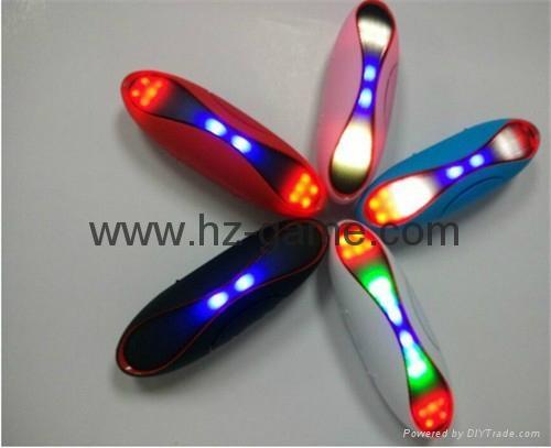 新款X6小橄榄球带灯LED蓝牙音箱发光玄幻音响无线迷你蓝牙低音炮 3
