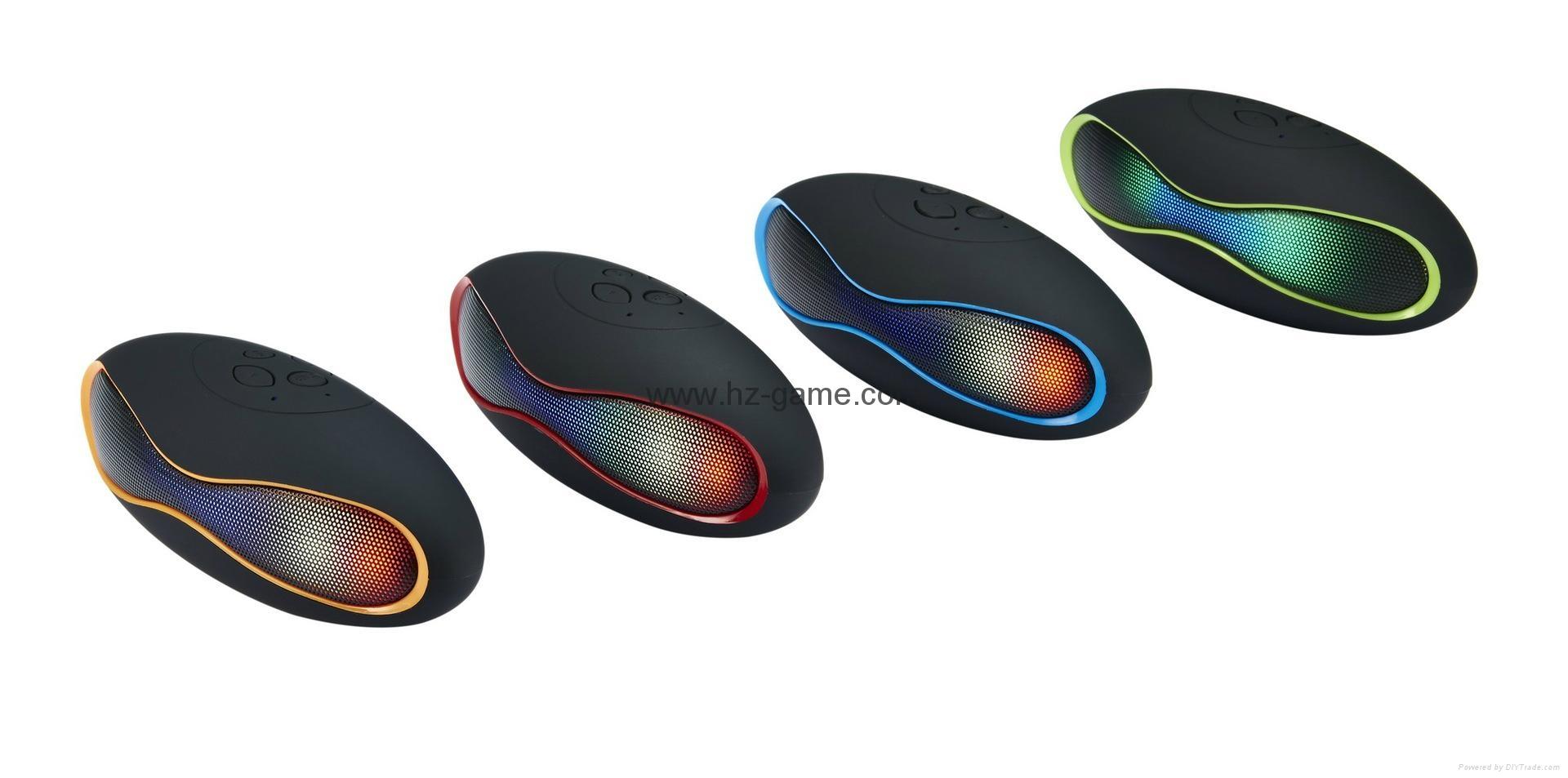 新款X6小橄榄球带灯LED蓝牙音箱发光玄幻音响无线迷你蓝牙低音炮 1