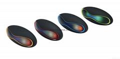 新款X6小橄欖球帶燈LED藍牙音箱發光玄幻音響無線迷你藍牙低音炮